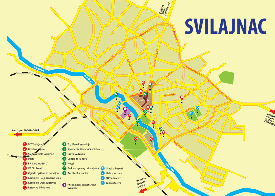 svilajnac mapa srbije Prirodnjački centar Svilajnac svilajnac mapa srbije